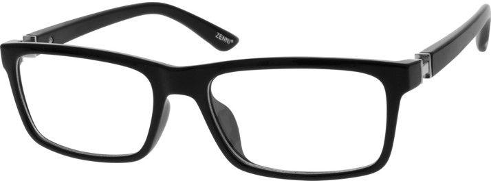 4769796fbad Unisex Black 2009 Flexible Plastic Full-Rim Frame with Spring Hinges