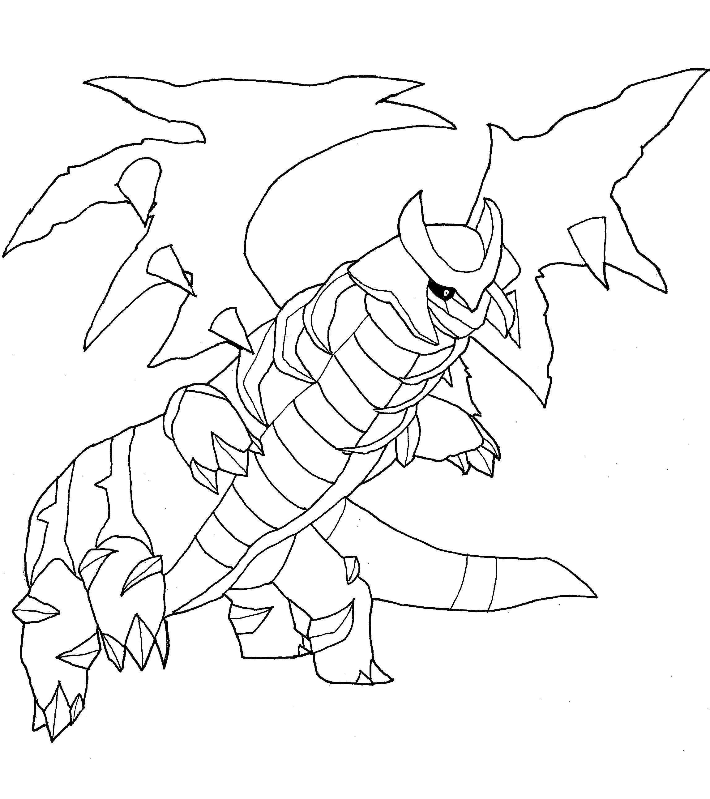 giratina coloring pages - kleurplaat giratina pokemonkleurplaten
