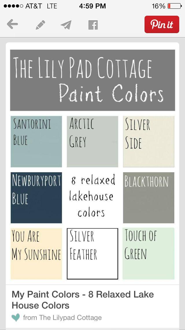 New House Pallet Cottage Paint Colors House Colors Lilypad