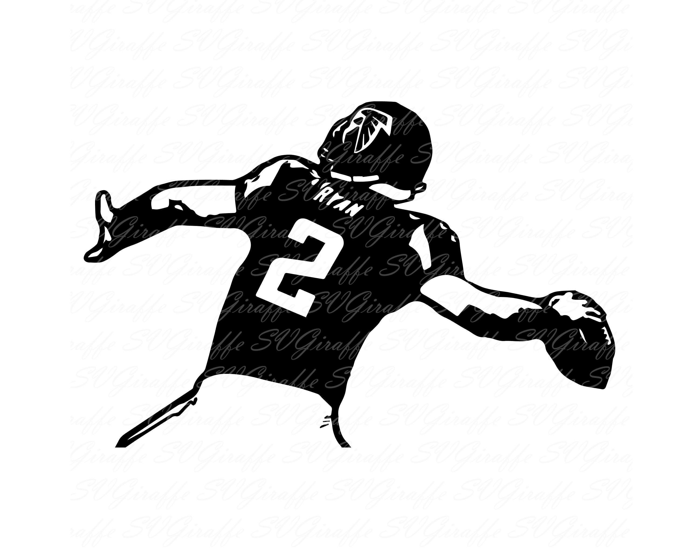 Matt Ryan SVG DXF PNG pdf jpg eps files Atlanta Falcons