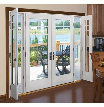 Someday I Will Remove The Bow Window In The Dining Room And Put In This Door With Screen Sidelights French Doors Exterior French Doors French Doors Patio