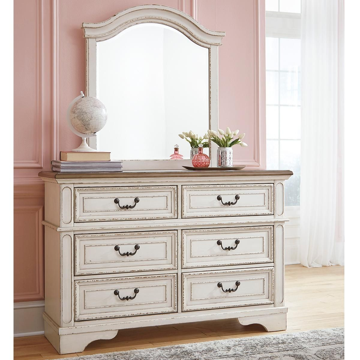 Signature Design by Ashley Realyn Youth Dresser and Mirror