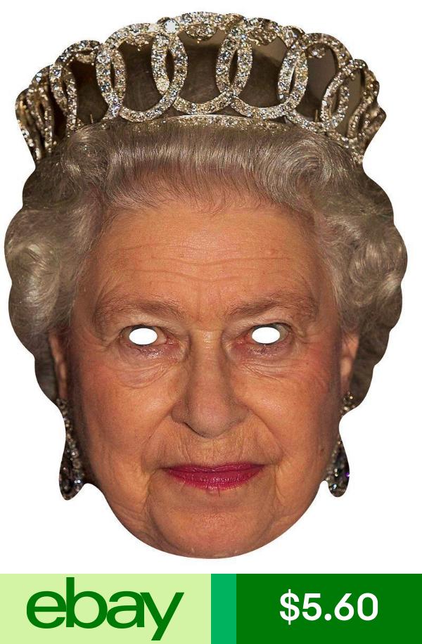 Starstills Cutouts And Masks Balloons Decorations Home Garden Party Face Masks Queen Elizabeth Queen Elizabeth Ii