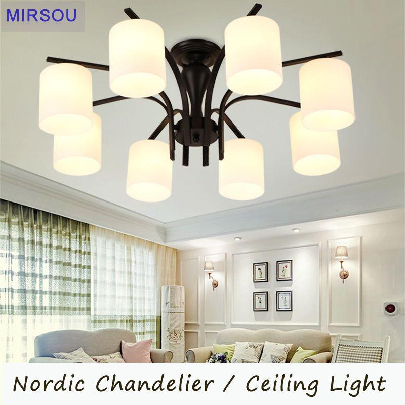 MIRSOU Modern LED Ceiling Light For Living Room Nordic E27