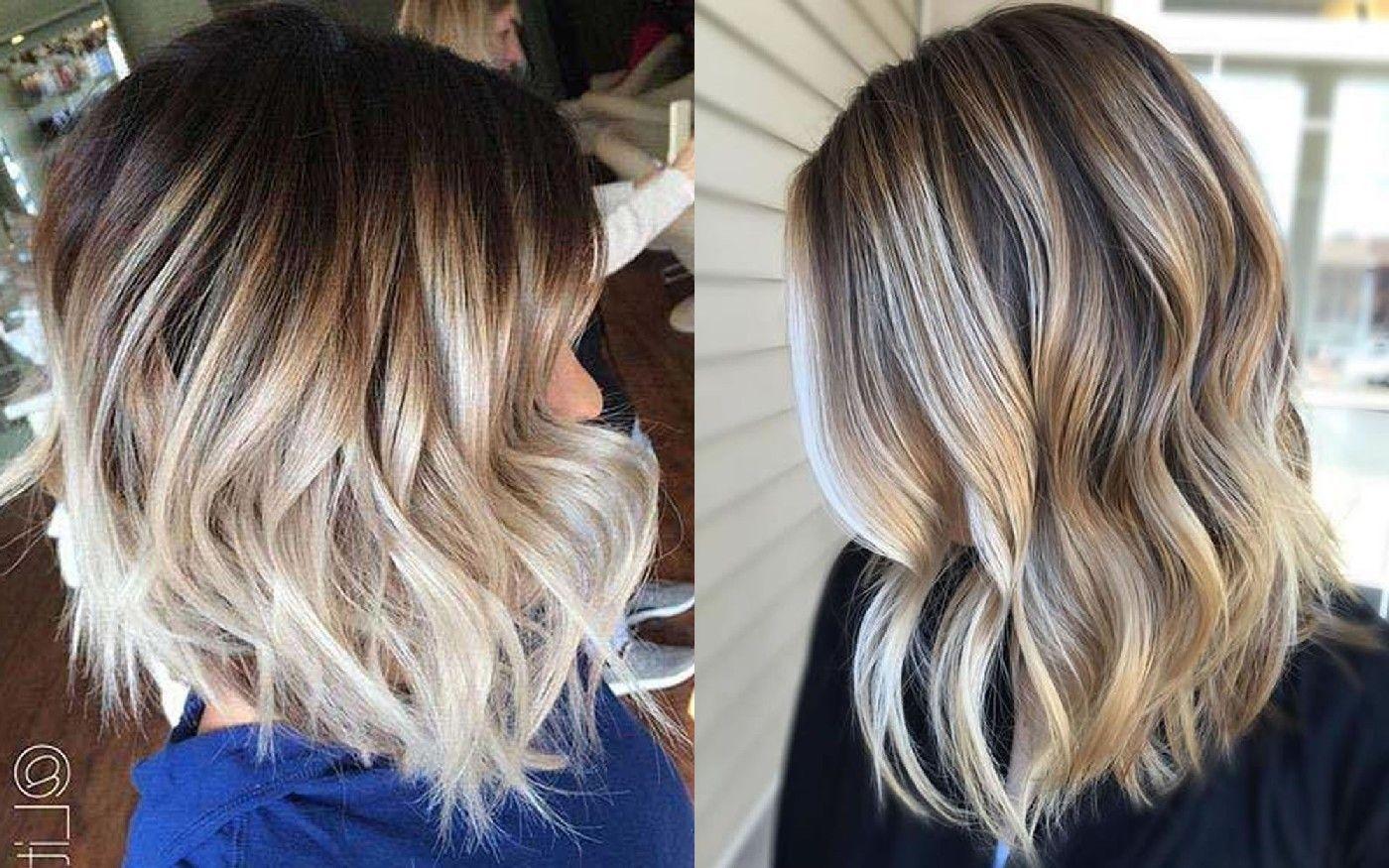 Ombre Haarfarben können Sie mit kurzen Frisuren versuchen ...