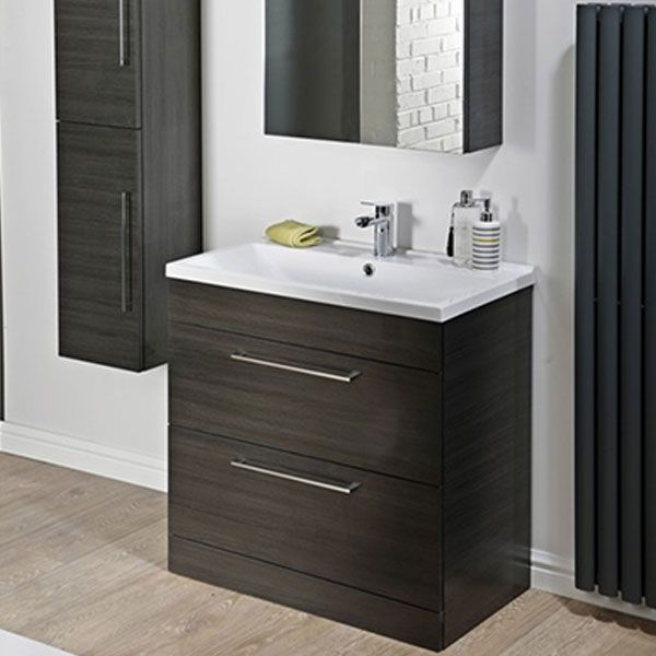 Cali Idon 2 Drawer Free Standing Vanity Unit With Basin 800mm
