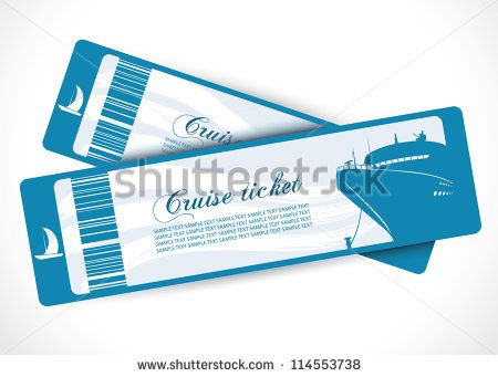 Cruise ship tickets - vector illustration bon voyage Pinterest - cruise ship chef sample resume