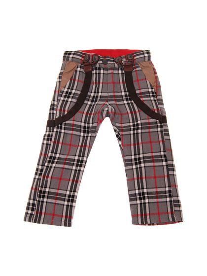 Mini Shatsu Plaid Suspenders Pants