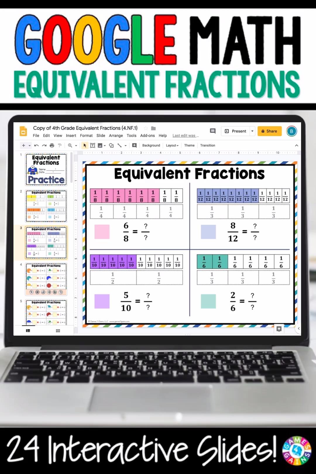 4th Grade Equivalent Fractions 4 1 Classroom