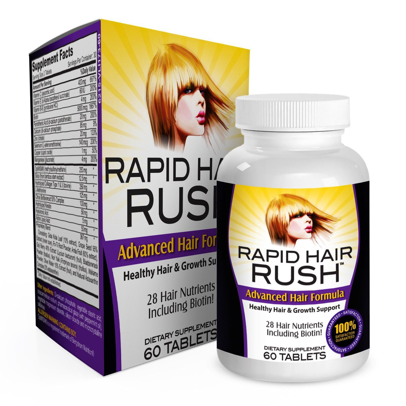 Rapid Hair Rush With 28 Healthy Hair Growth Vitamins Supplements Vitamins For Hair Growth Faster Hair Growth Vitamins Healthy Hair Growth