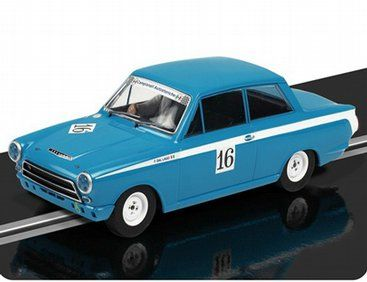 The Scalextric Ford Lotus Cortina Dpr 2011 Monza Historic Car