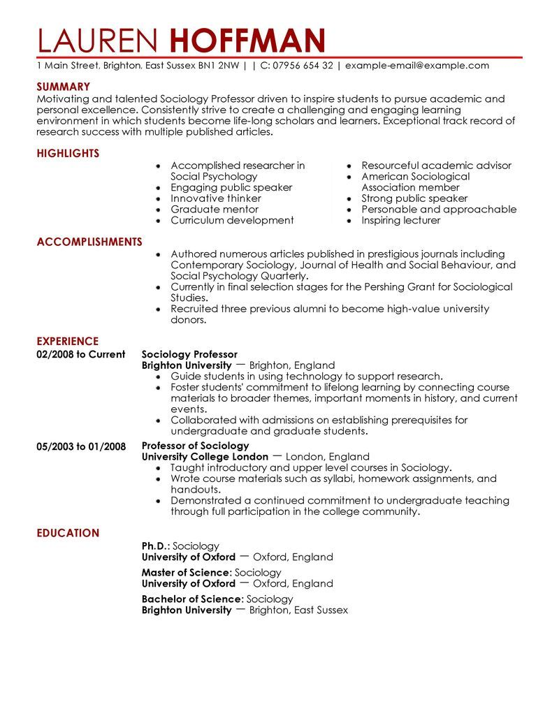 samples of teachers resumes