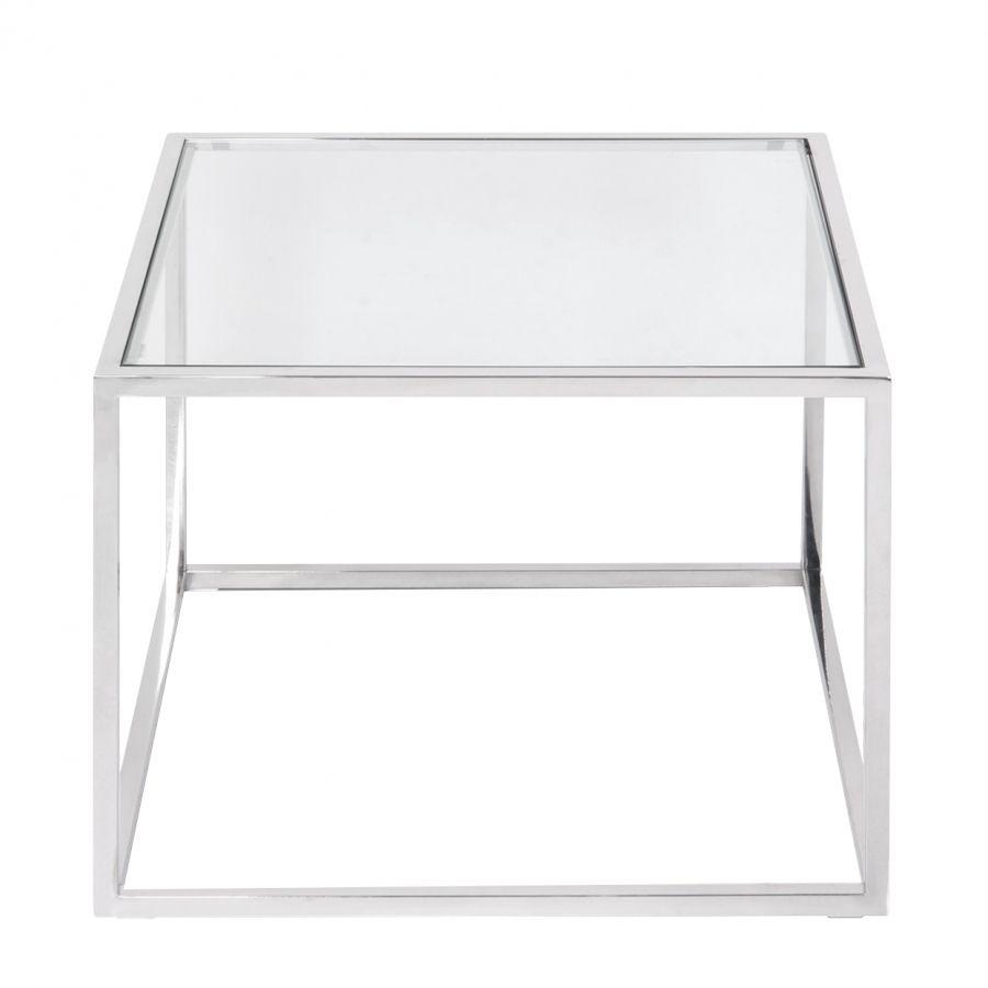 Beistelltisch Jacob Glas Edelstahl Silber Beistelltisch Beistelltische Wohnzimmer Tisch