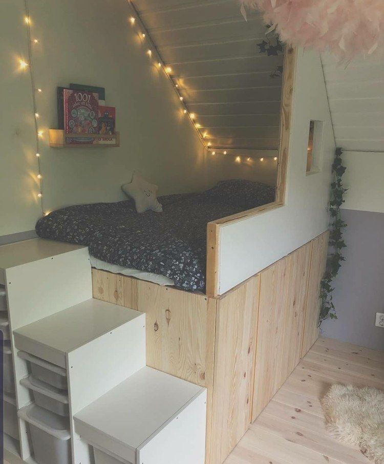Bett unter Dachschräge im Kinder- & Jugendzimmer – Tipps