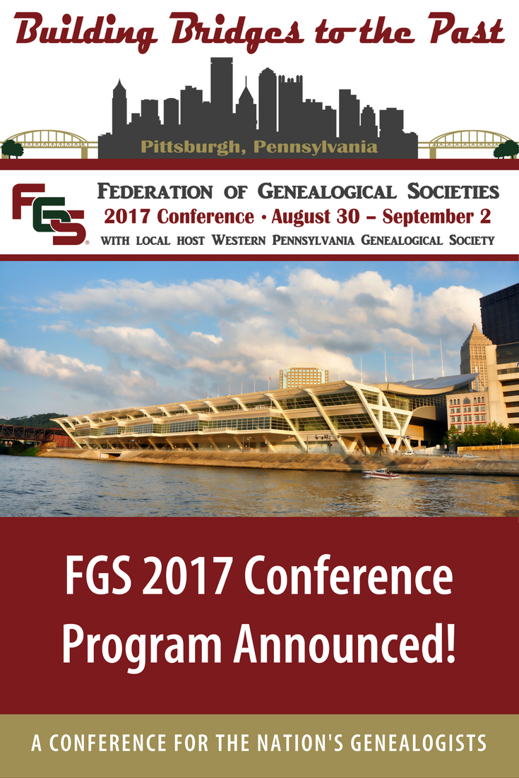 2017 FGS Conference Program Announced! Conference