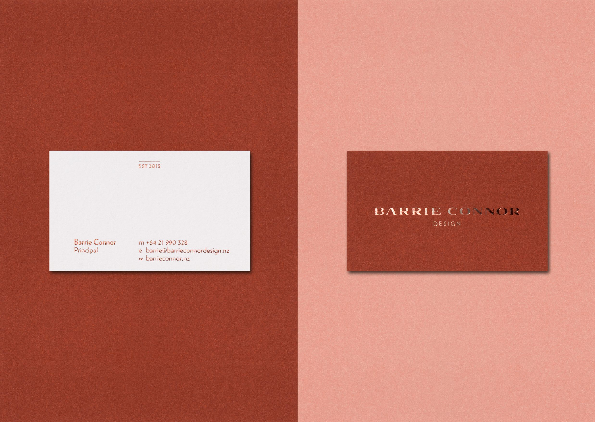 Business cards for barrie connor design a boutique interior design business cards for barrie connor design a boutique interior design practice based in new zealand a trio of bespoke mixed colours make for a unique and reheart Choice Image