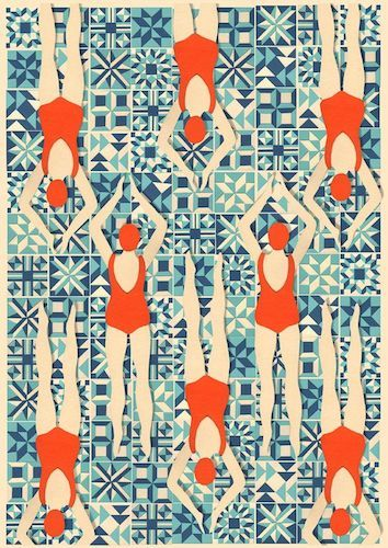 Lou Taylor Swimmers print