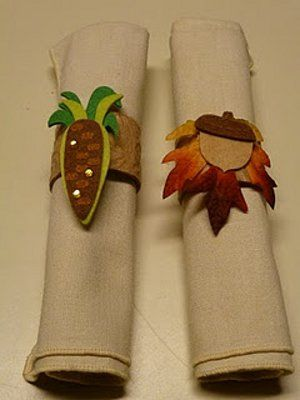 thanksgiving felt craft ideas -Napkin holders are cute