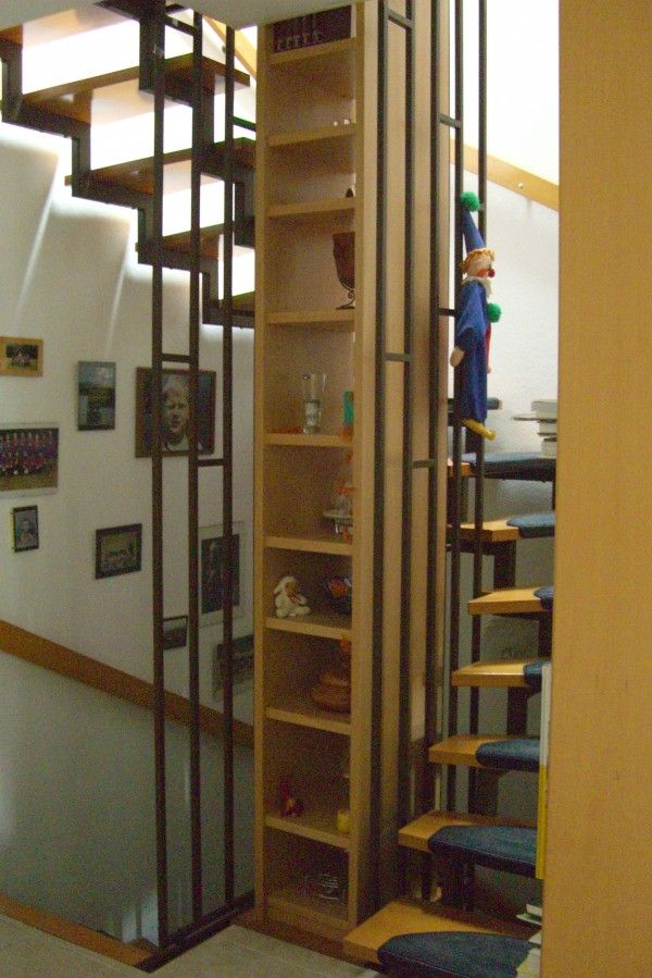 Treppenauge Mit Regal Stairs Pinterest Stairs