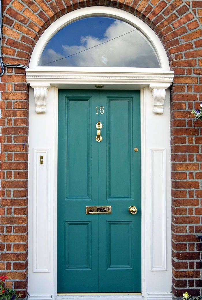 How about the trim color on a door of red brick house - Front door colors for brick houses ...