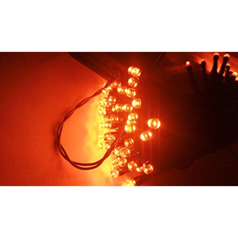 String Lights 40ft 100 Led Orange 8modes Blingstar Solar Fairy Christmas