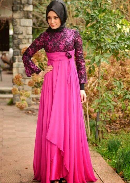 Baju Pesta Muslim  Brokat Modern Terbaru Victorian Style