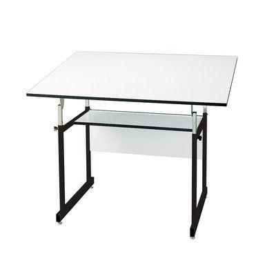 Marotta Solid Wood Desk Table Adjustable Height Table