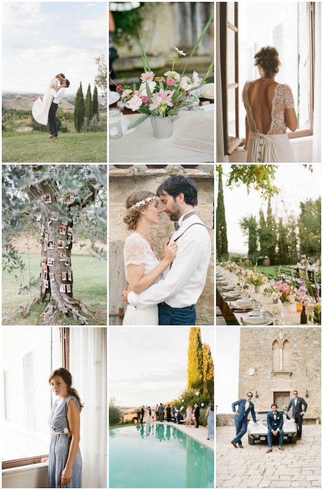 Chic Boho Destination Wedding in Tuscany | Wedding