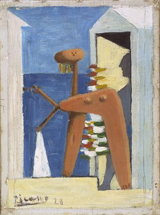 Pablo Picasso - Bather and Cabin, 1928