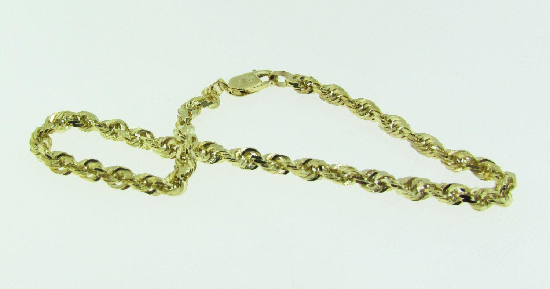 k gold rope bracelet by vintagejewelrybazaar on etsy jewelry