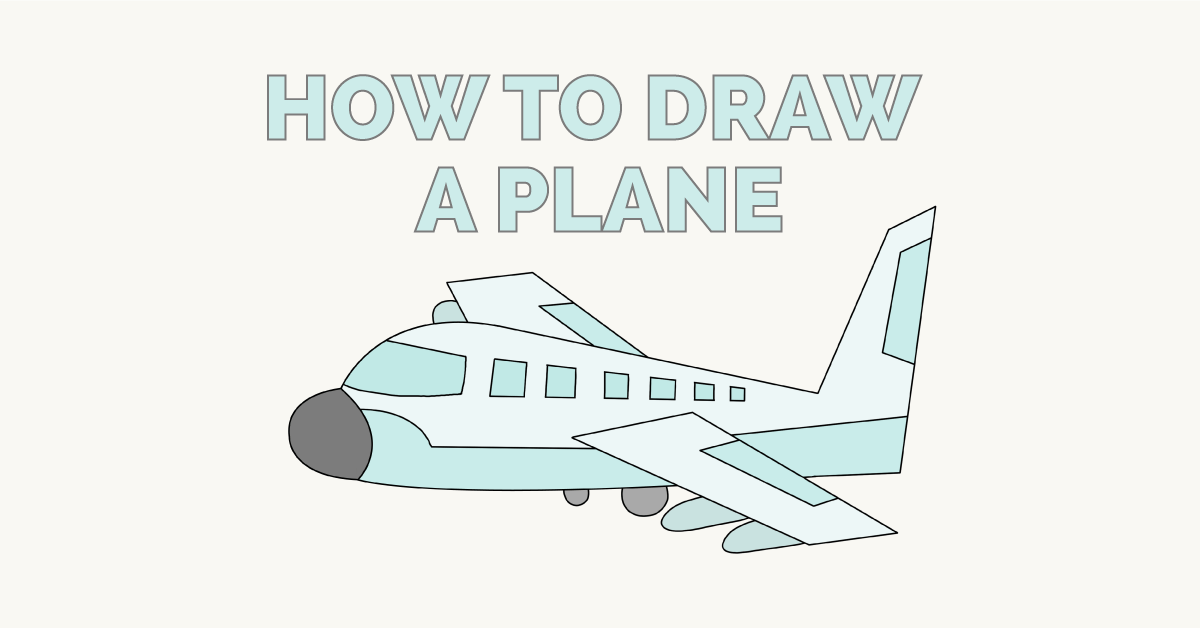 How To Draw An Airplane Sketch Drawings Airplane Drawing Easy