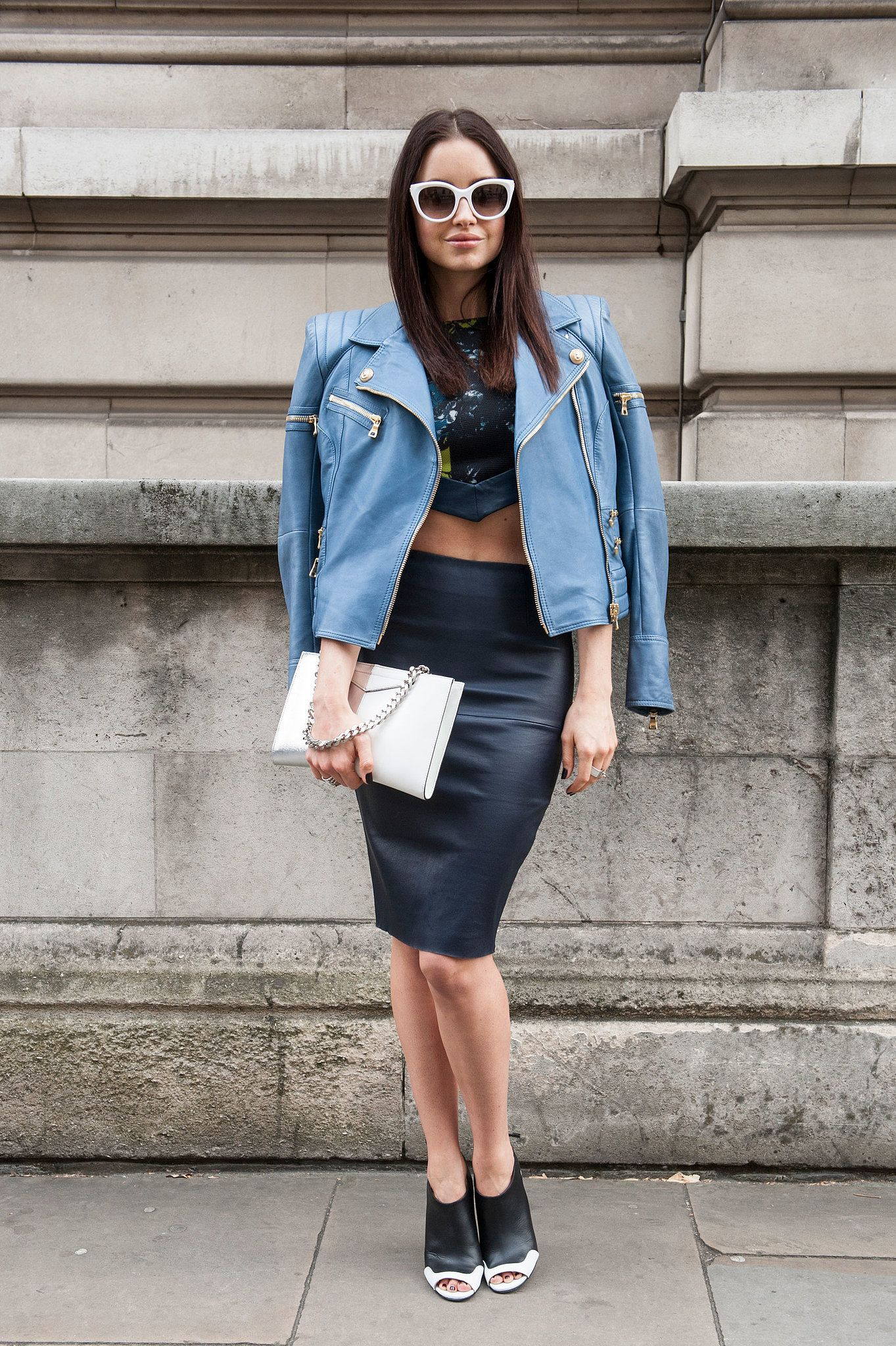 LFW Street Style Day 3: A hint of midriff and bold shades were made for hitting…