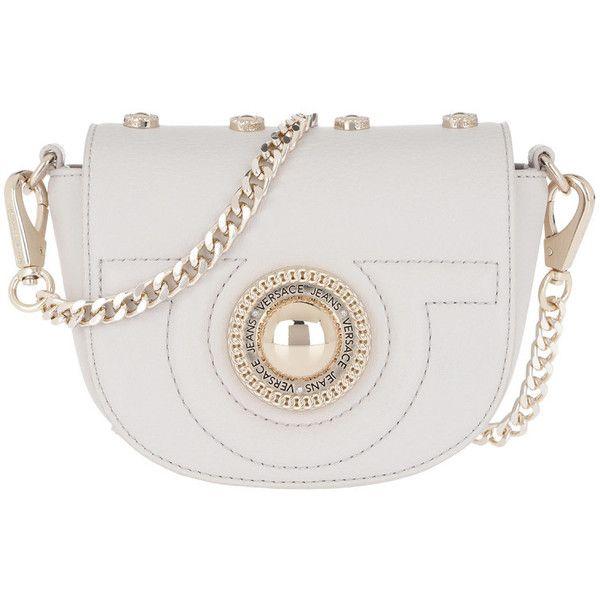 f364b5e528 Versace Jeans Shoulder Bag - Studded Crossbody Bag Bianco Ottico - in... (