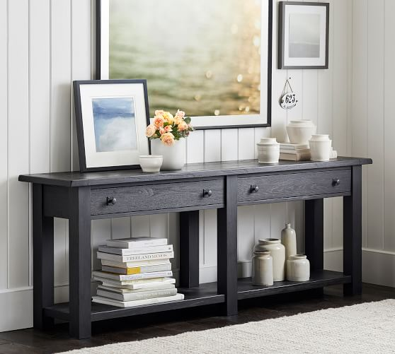 Benchwright Grand Console Table Pottery Barn Home Decor Reclaimed Wood Console Table Decor