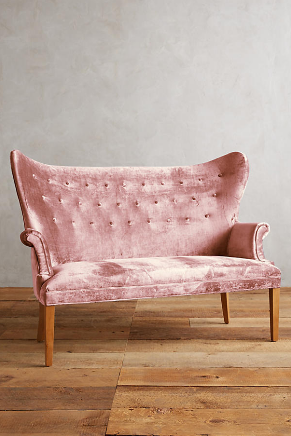 Slub Velvet Wingback Bench | Chairs&things | Pinterest | Bench, Big ...