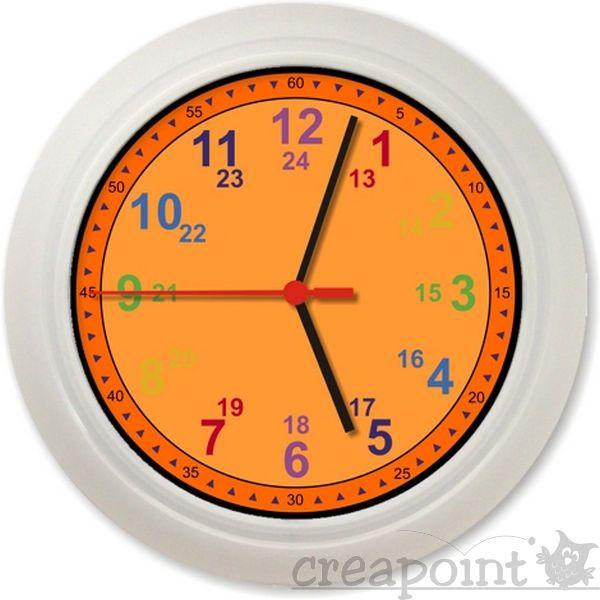 Details zu #023 Wanduhr -Lernuhr- Uhrzeit lernen leicht gemacht - wanduhr für küche