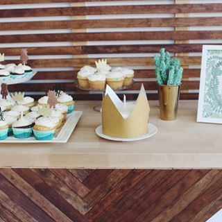 Where the wild things are birthday party ideas - wild one smash cake and dessert table