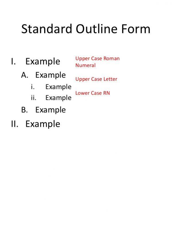 Mla Format Outline Template template Pinterest Outlines and - mla format template