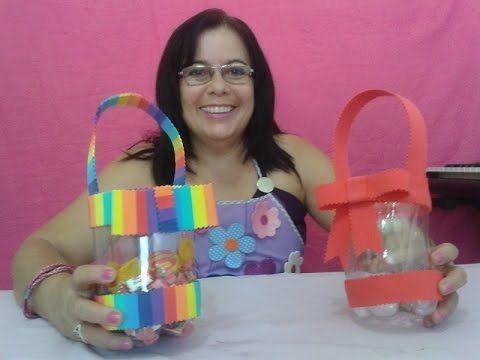 Lembranca Dia Das Criancas Com Garrafa Pet E Eva Aleyr Azeredo