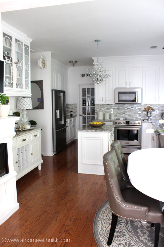 At Home With Nikki Kitchen Renovation. Love It!