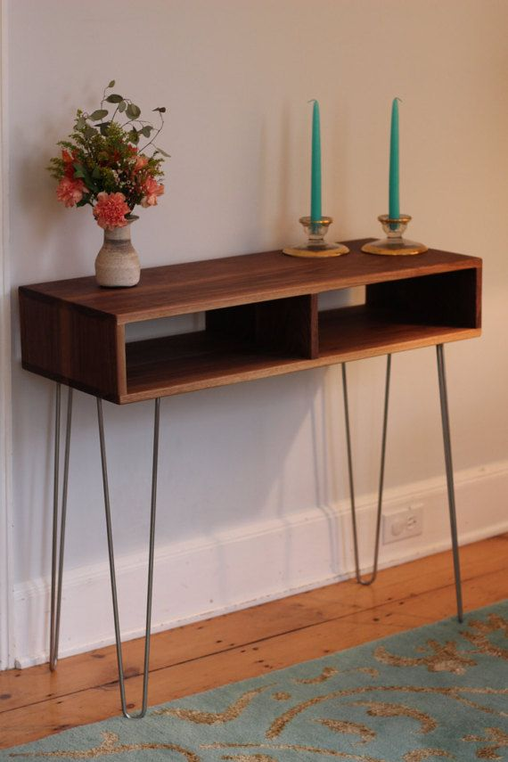 mid century modern sideboard console table with. Black Bedroom Furniture Sets. Home Design Ideas