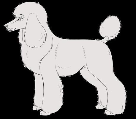 Free Poodle Lines By Pinky Poodle Poodle Digital Artist Aurora Sleeping Beauty