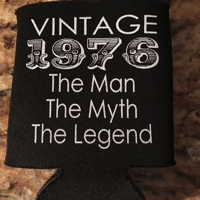 Vintage Birthday Koozies the man the myth the legend customizable ...