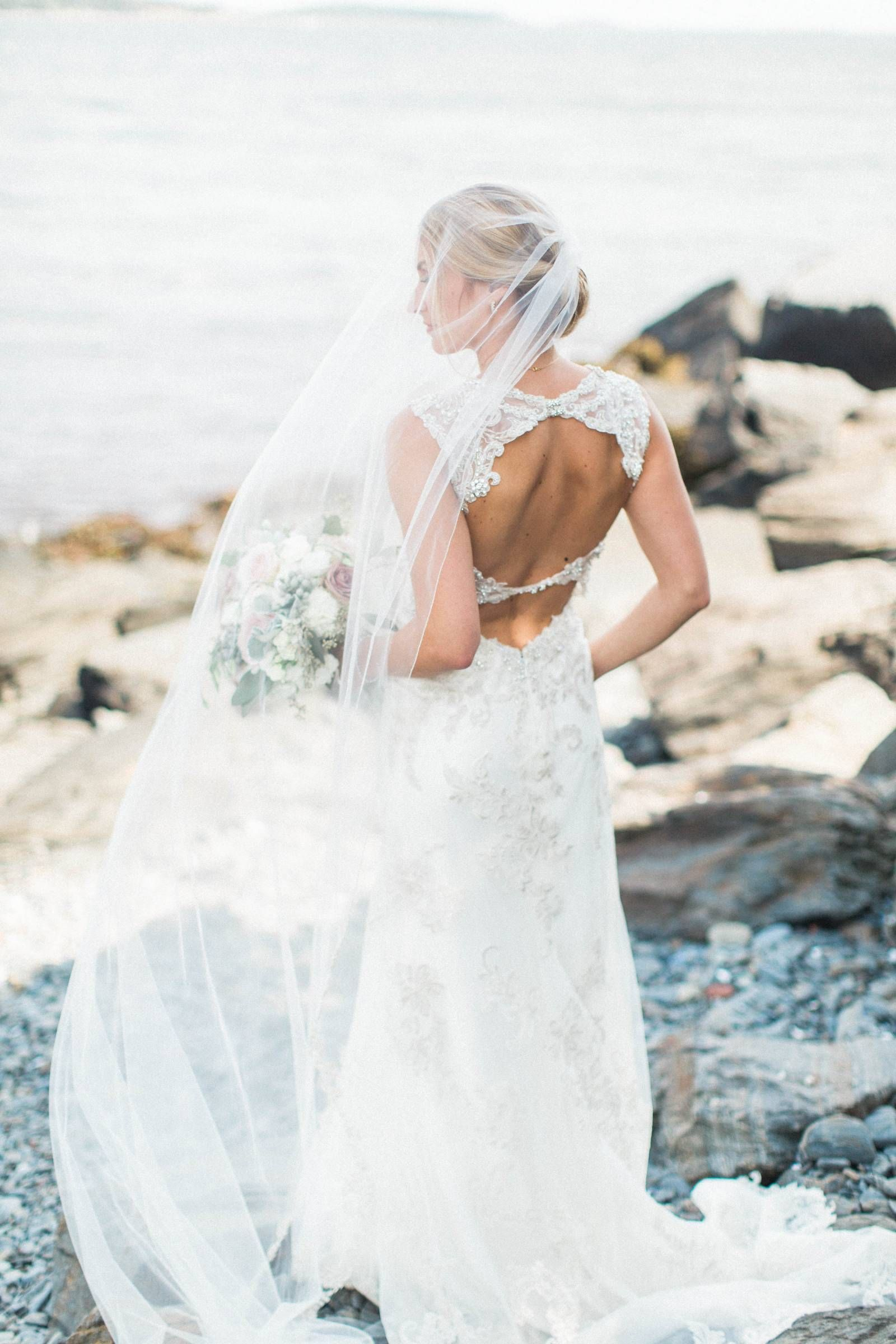 Lace wedding dress with cap sleeves sweetheart neckline  Dayof Wedding Coordination via Elegant Productions  Lace Cap