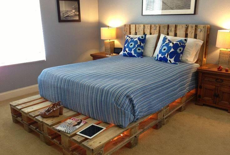 cama de pallets Estibas Pinterest Camas, Tarimas y Reciclado - camas con tarimas