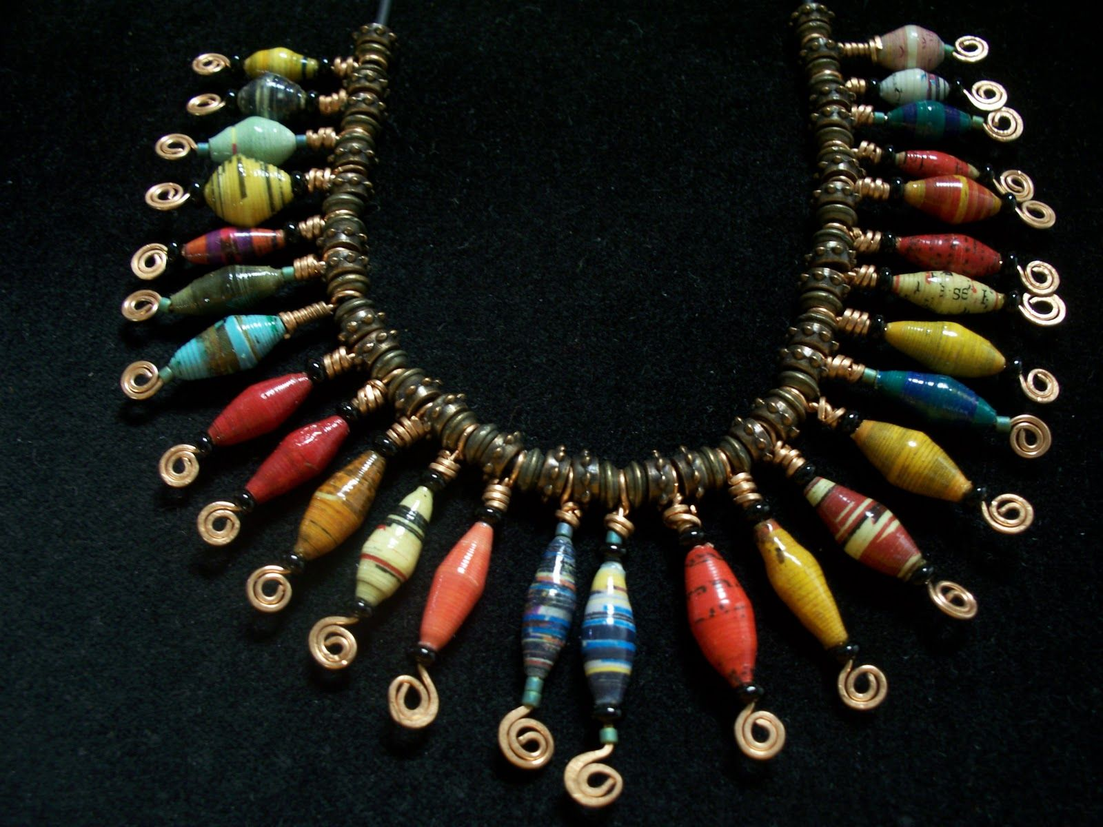 Opps I Wasn T Finished Paper Bead Jewelry Paper Jewelry