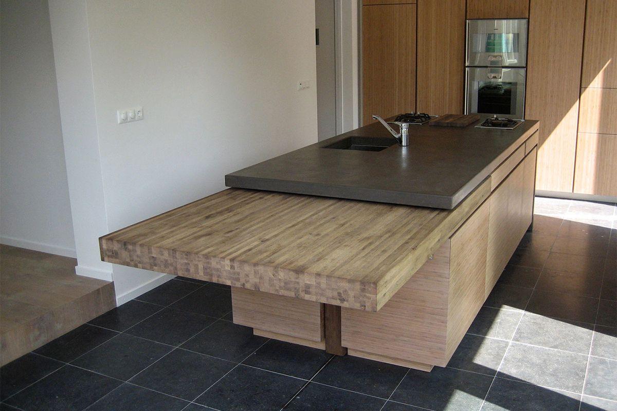 Betonnen kookeiland betonnen aanrechtblad pinterest for Zelf keukenontwerp maken