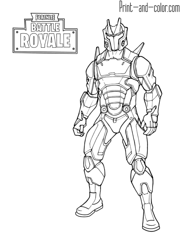 Fortnite Battle Royale Coloring Page Omega Max Level