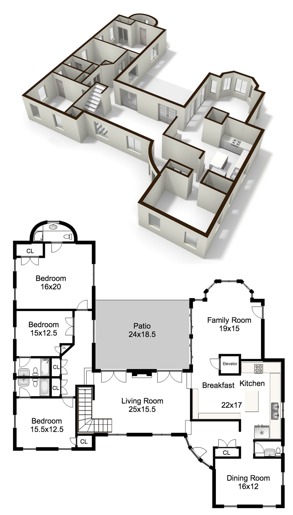 Nice Example Of A Black And White Floorplan Floorplanner Is Used Increasingly For This Type Of Plans Since We Floor Plans Create Floor Plan House Floor Plans