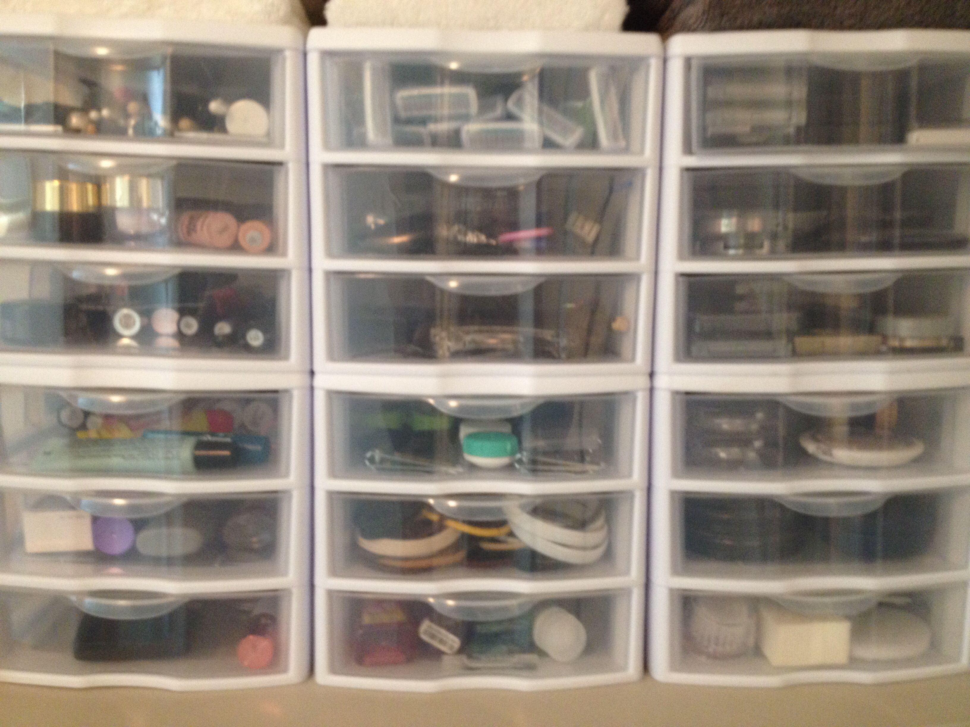 Make Up Storage I Found These Small 3 Drawer Sterilite Towers